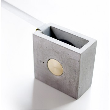 Concrete + Brass Tape Holder