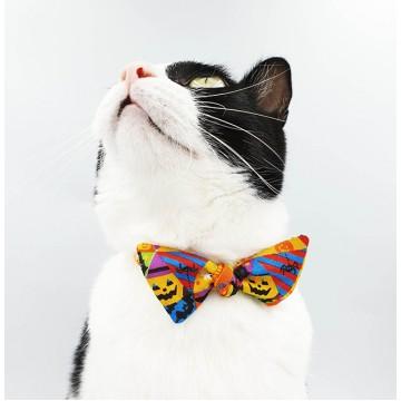 Classic Halloween Bow Cat Collar