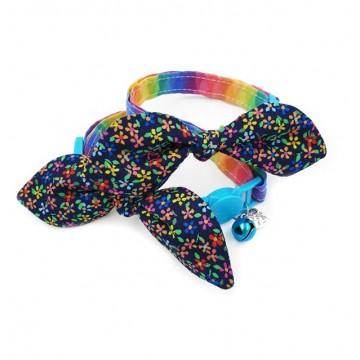 Night Magical Fantasy Bow Cat Collar