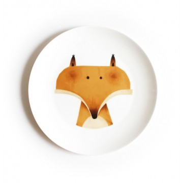The Red Wood Fox Dining Plate