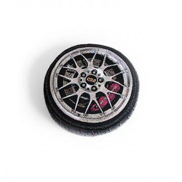 Luxury Car Wheel Knit Cushion