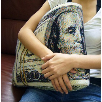 U.S Dollar Knit Cushion