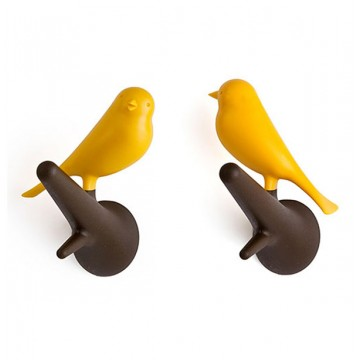 Sparrow Wall Hooks (Orange)