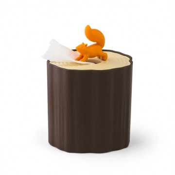 Squirrel Log Toilet Paper Holder