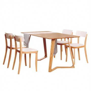 Dining Set - Maddox Table + 4 Nico Chair