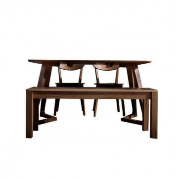 Dining Set - Maddox Table (2 chairs + 1 bench)