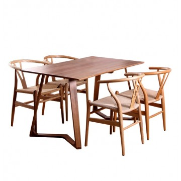 Dining Set - Maddox Table + 4 Leroy Chair