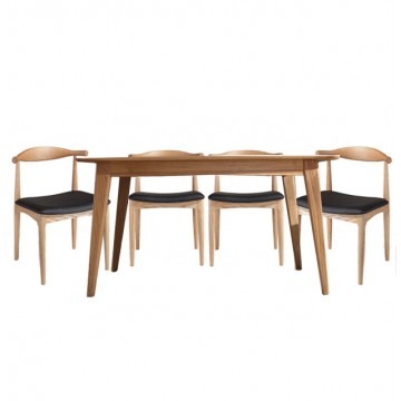 Dining Set - Piper Table + 4 Leopold Chair