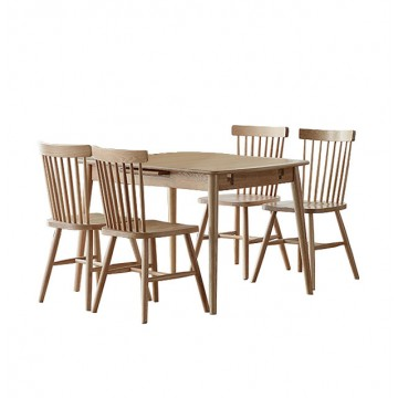 Dining Set - Jordi Table + 4 Vannes Chair
