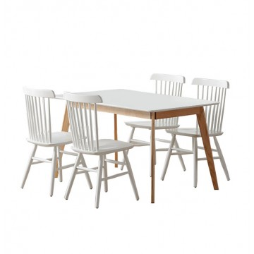 Dining Set - Lynn Table + 4 Vinn Chair