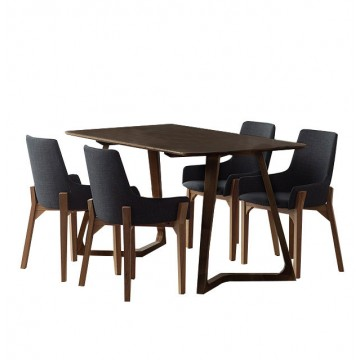 Dining Set - Maddox Table + 4 Cayden Chair