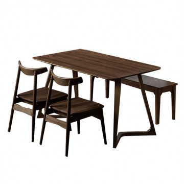 Dining Set - Maddox Table + 2 Zadie Chair + 1 Moe Bench