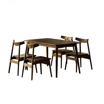 Dining Set - Piper Round Table + 4 Zadie Chair