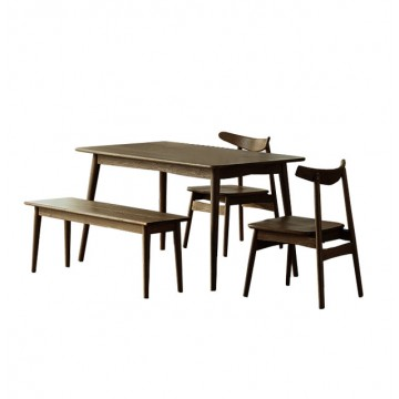 Dining Set - Piper Round Table  (2 chairs + 1 bench)