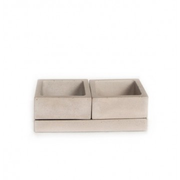 Concrete Salt & Spice Caddy