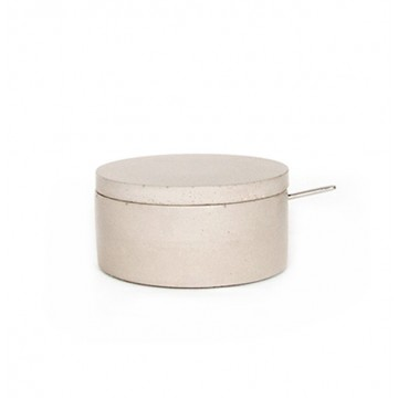 Classic Concrete Salt Cellar with Spoon