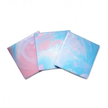 Fluid-Painted Coaster (Cotton-Candy)