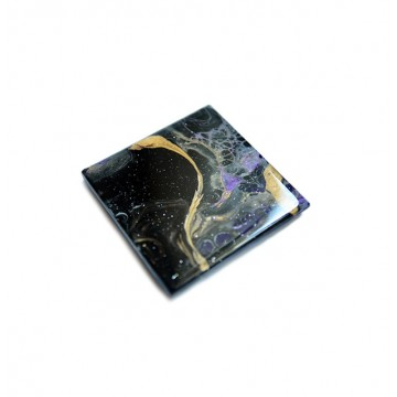 Fluid-Painted Coaster (Nebula)