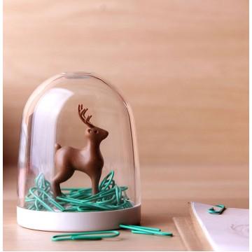 Deer In A Forest Paper Clip Holder