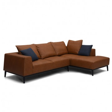 Cormac L-Shaped Sofa (LEATHER)