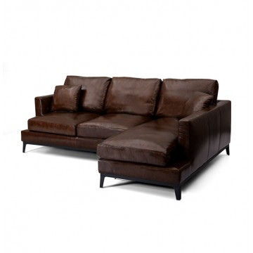 Griffith L-Shaped Sofa (Leather)