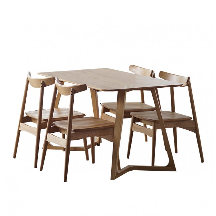 Maddox Table + 4 Zadie Chair
